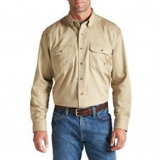 A10012251 FR Button Down Khaki Work Shirt