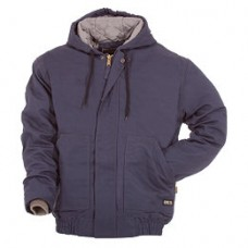 BAFRHJ01 Navy FR Quilt Lined Hooded Bomber